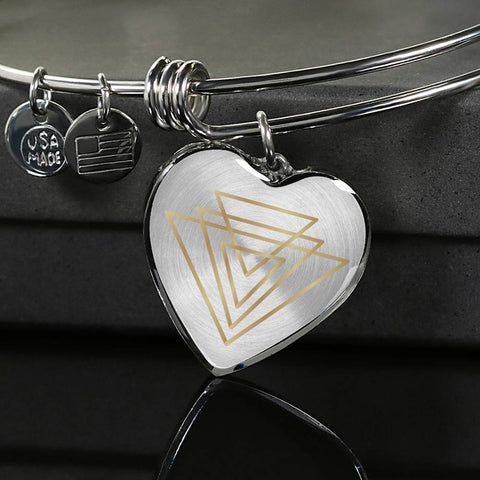 Magic of Psalm Symbol Heart Bangle
