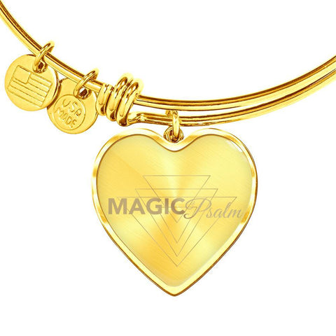 Magic of Psalm Logo Heart Bangle Bracelet