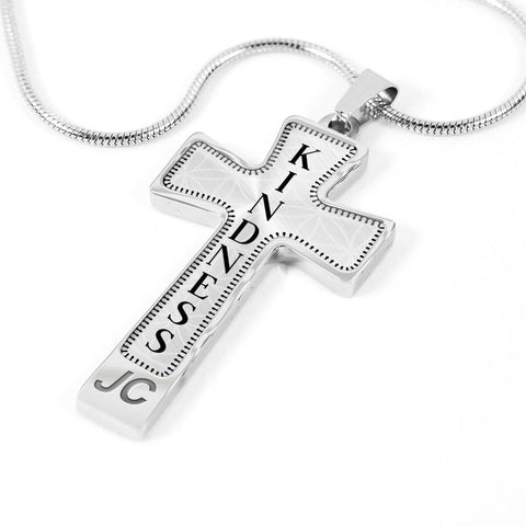 Kindness Intention Cross Style Pendant Necklace