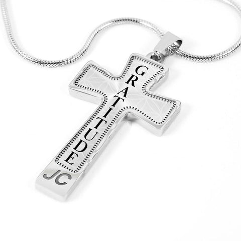 Gratitude Intention Cross Style Pendant Necklace - Lyghtt