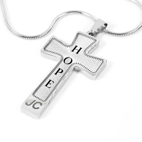 Hope Intention Cross Style Pendant Necklace