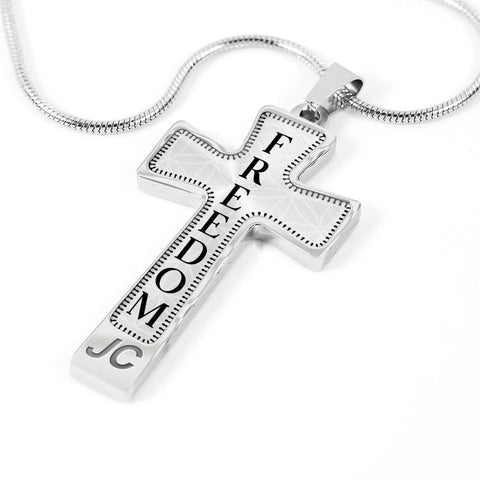 Freedom Intention Cross Style Pendant Necklace - Lyghtt