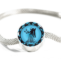 Virgo Blue Zodiac Sign Charm Bracelet