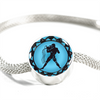 Image of Aquarius Blue Zodiac Sign Charm Bracelet - Lyghtt