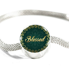 Blessed Circle Style Charm Bracelet