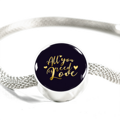 All you need is love circle charm bracelet