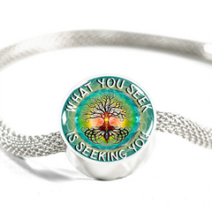 What You Seek Is Seeking You Charm Bracelet