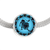 Image of Leo Blue Zodiac Sign Charm Bracelet - Lyghtt