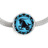 Image of Capricorn Blue Zodiac Sign Charm Bracelet - Lyghtt