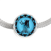 Image of Virgo Blue Zodiac Sign Charm Bracelet - Lyghtt