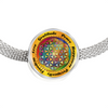 Image of Affirmation Flower of Life Charm Bracelet - Lyghtt