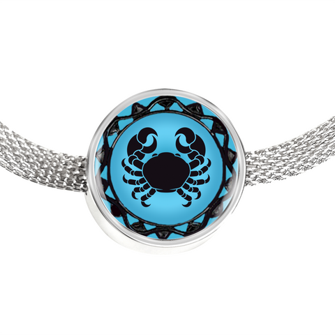Cancer Blue Zodiac Sign Charm Bracelet - Lyghtt