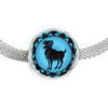 Image of Aries Blue Zodiac Sign Charm Bracelet - Lyghtt