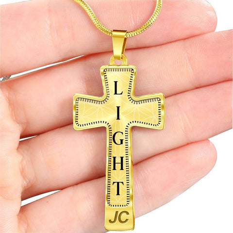 Light Intention Cross Style Pendant Necklace