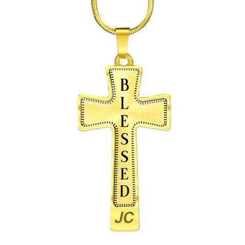 Blessed Intention Cross Style Pendant Necklace - Lyghtt