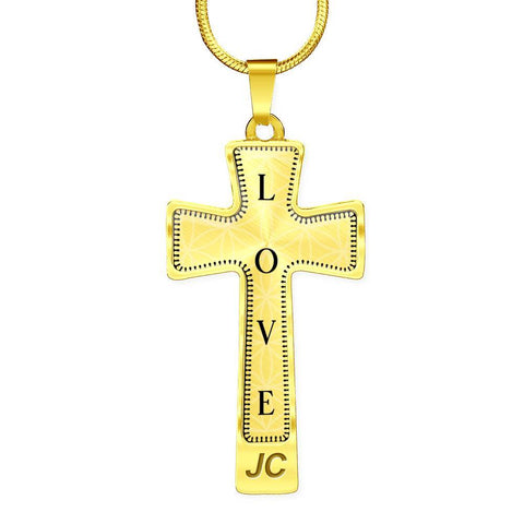 Love Intention Cross Style Pendant Necklace