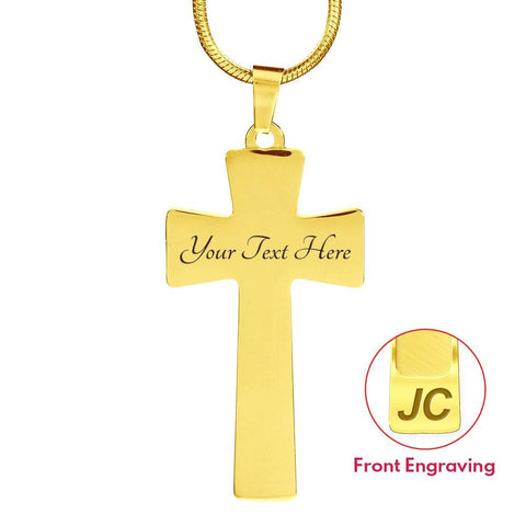 Strength Intention Cross Style Pendant Necklace