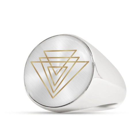 Magic of Psalm Symbol Signet Ring