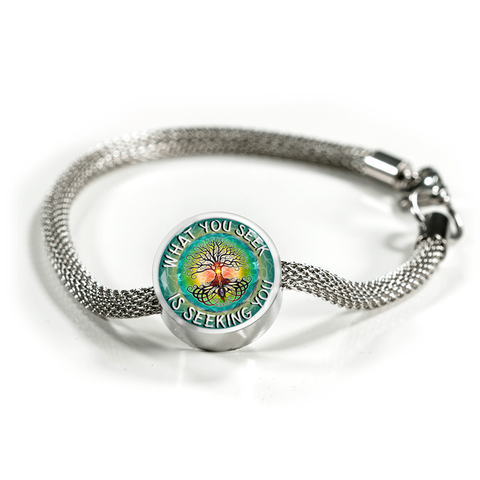 What You Seek Is Seeking You Charm Bracelet - Lyghtt