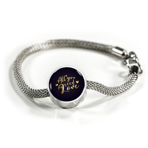 All you need is love circle charm bracelet - Lyghtt