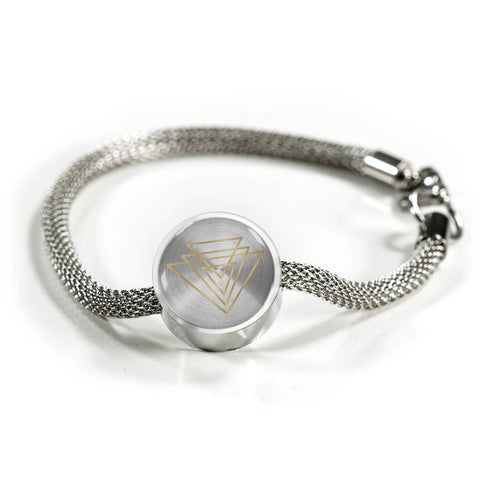 Magic of Psalm Symbol Round Charm Bracelet