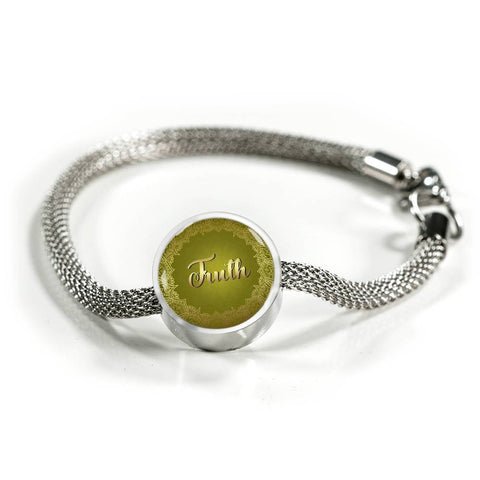 Truth Circle Style Charm Bracelet