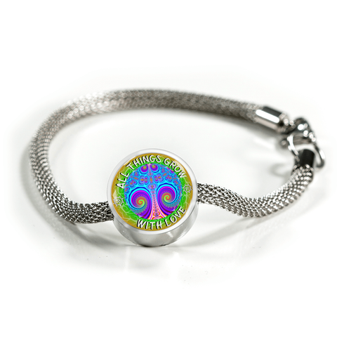 All Things Grow with Love Pink Tree of Life Charm Bracelet - Lyghtt