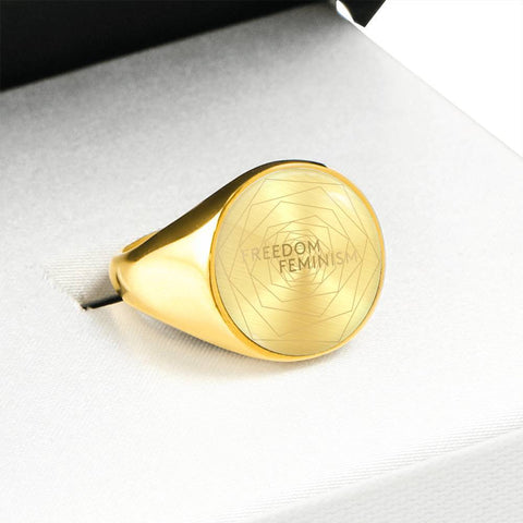 Freedom & Feminism Project Logo Signet Ring - Lyghtt