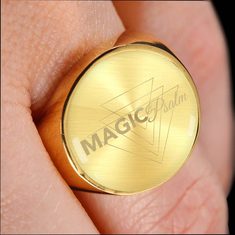 Magic of Psalm Logo Signet Ring - Lyghtt