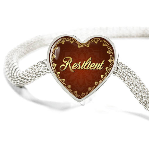 Resilient Heart Style Charm Bracelet
