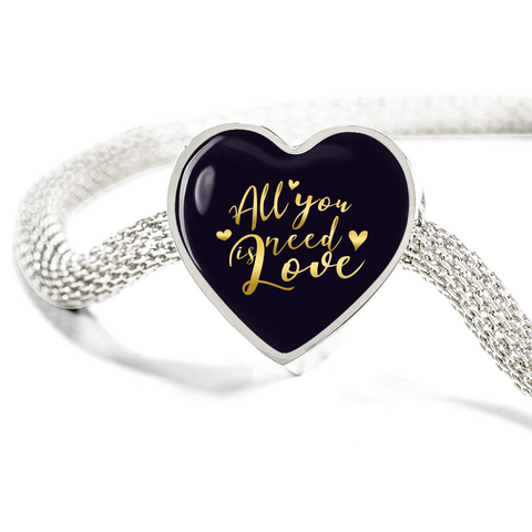 All You Need Is Love Heart Charm Bracelet - Lyghtt