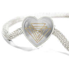 Magic of Psalm Symbol Heart Charm Bracelet