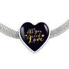 Image of All You Need Is Love Heart Charm Bracelet - Lyghtt
