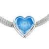 Image of Blue Love Heart Beat Heart Shape Charm Bracelet - Lyghtt