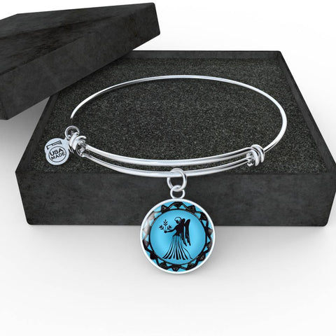 Virgo Blue Zodiac Bangle