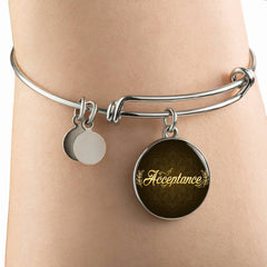 Acceptance Circle Style Bangle Bracelet