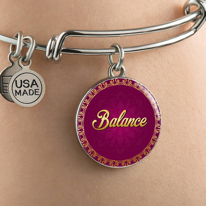 Balance Circle Style Bangle Bracelet - Lyghtt