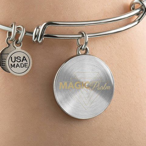 Magic of Psalm Logo Round Bangle Bracelet