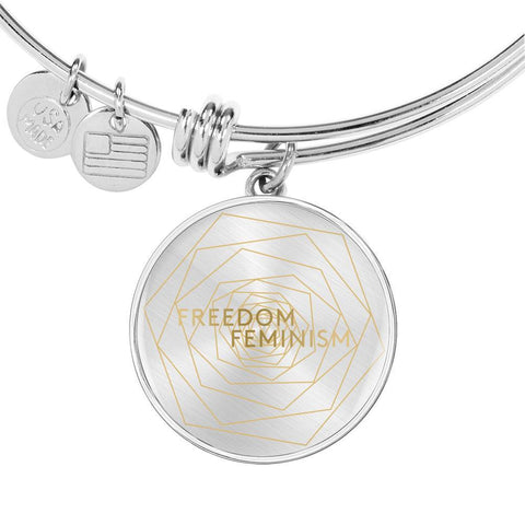 Freedom & Feminism Project Logo Bangle Bracelet - Lyghtt