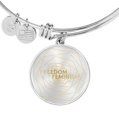 Freedom & Feminism Project Logo Bangle Bracelet