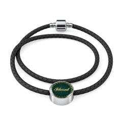 Blessed Circle Style Leather Bracelet - Lyghtt