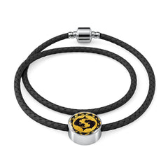Pisces Gold Zodiac Leather Bracelet