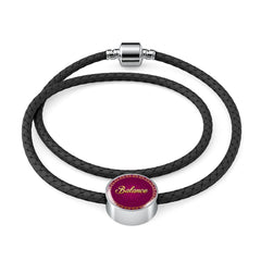 Balance Circle Style Leather Bracelet - Lyghtt