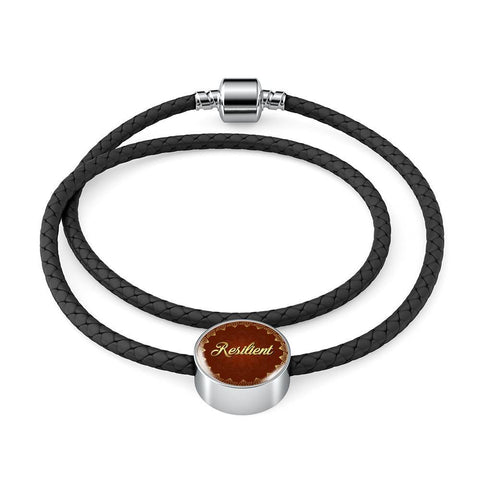 Resilient Circle Style Leather Bracelet