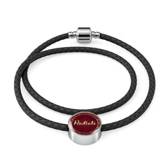 Radiate Circle Style Leather Bracelet