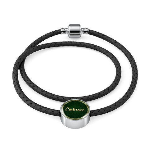 Embrace Circle Style Leather Bracelet - Lyghtt