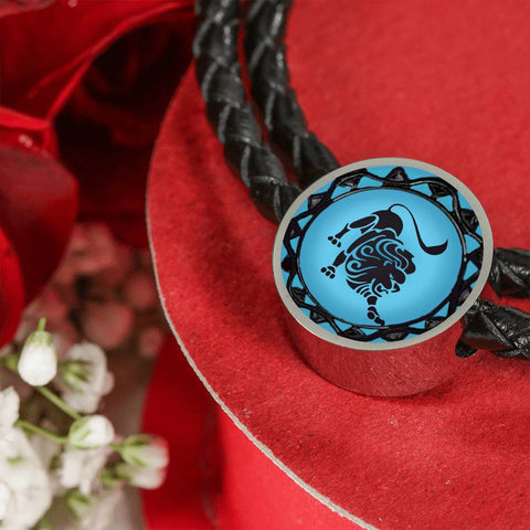 Leo Blue Zodiac Leather Bracelet - Lyghtt
