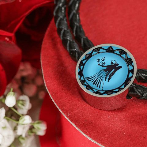 Virgo Blue Zodiac Leather Bracelet