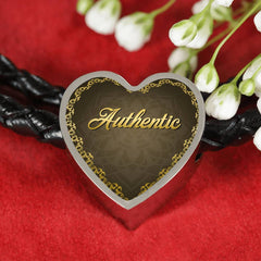 Authentic Heart Style Leather Bracelet