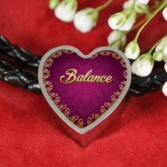 Balance Heart Style Leather Bracelet